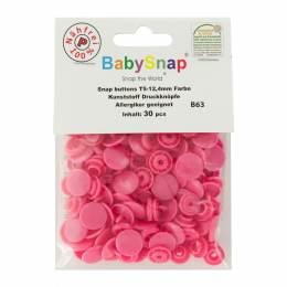 Bouton pression plastique BabySnap® rond fuschia - 408