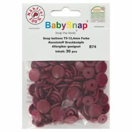 Bouton pression plastique BabySnap®rond bordeaux - 408