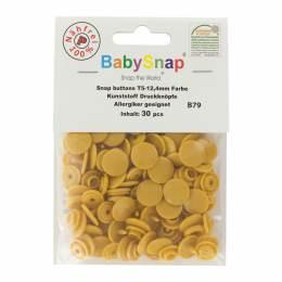 Bouton pression plastique BabySnap® rond moutarde - 408