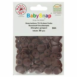 Bouton pression plastique BabySnap® rond marron - 408