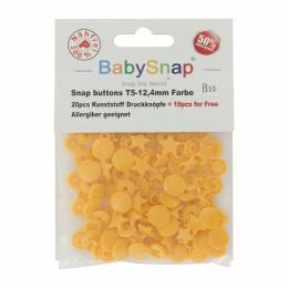 Bouton pression BabySnap® étoile orange - 408