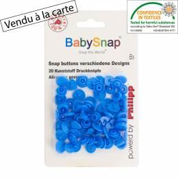 Bouton pression BabySnap® coeur bleu - 408