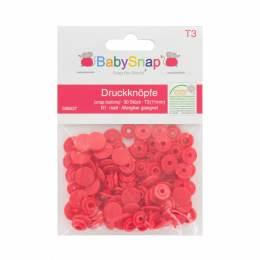 Bouton pression BabySnap® rond 11mm rouge - 408
