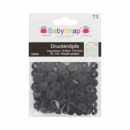 Bouton pression BabySnap® rond 11mm noir - 408