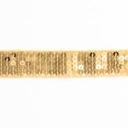 Galon paillettes 20mm doré - 408