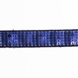 Galon paillettes 20mm bleu - 408