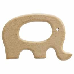 Anneau de dentition bébé en bois éléphant - 1000