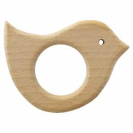 Anneau de dentition bébé en bois oiseau - 408