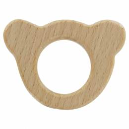 Anneau de dentition bébé en bois ours - 408
