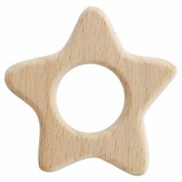 Anneau de dentition bébé en bois étoile - 1000