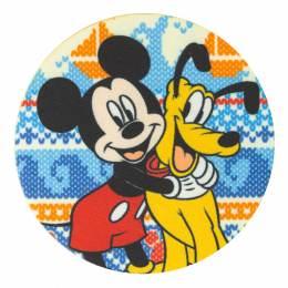 Mickey et Pluto 7,5cm - Thermo et autocollant - 408