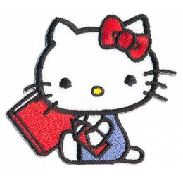 Thermocollant Hello Kitty livre rouge 6 x 6,5 cm - 408