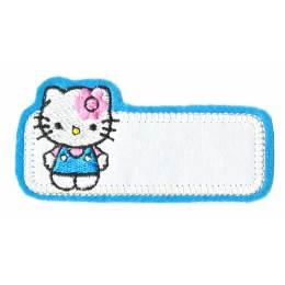 Thermocollant etiquette Hello Kitty 4 x 8,5 cm - 408