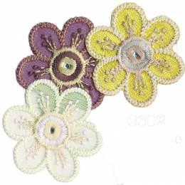 Thermocollant fleurs par 3 3 x 3,5 cm - 408
