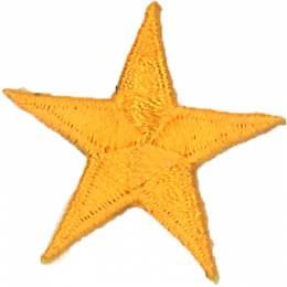Thermocollant étoile broderie orange 3 x 3cm - 408