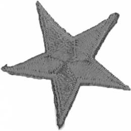 Thermocollant étoile broderie grise 3 x 3cm - 408