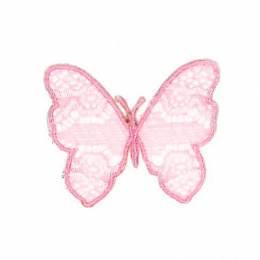 Thermocollant papillon rose 5,5 x 4,5 cm - 408