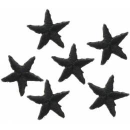 Mini étoiles thermocollantes noire - 408