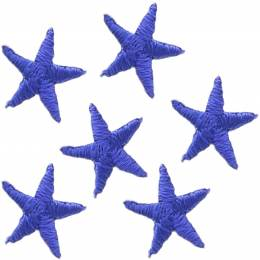 Mini étoiles thermocollantes bleu - 408