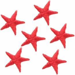 Mini étoiles thermocollantes rouge - 408