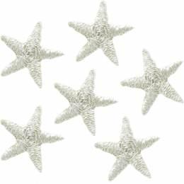 Mini étoiles thermocollantes argenté - 408