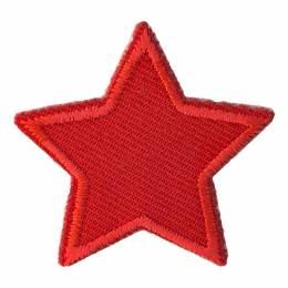 Thermocollant et autocollant étoile rouge 4x4cm - 408