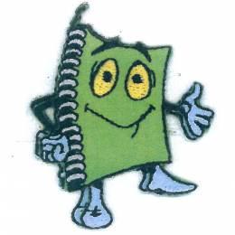 Thermocollant bouton cahier vert 5,5 x 4,5 cm - 408
