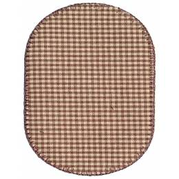 Coude vichy marron (la paire) 10,5 x 8 cm - 408
