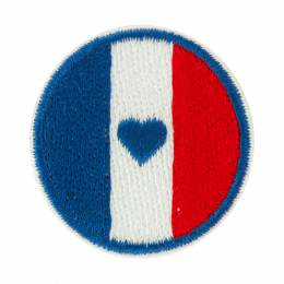 Thermocollant rond bleu blanc rouge rond 3cm - 408