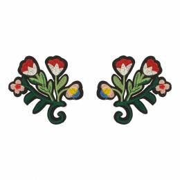 Thermocollant fleur (une paire) 8 x 9 cm - 408