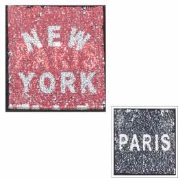 Motif paillette réversible Paris/New York - 408