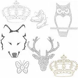 Lot de 7 motifs strass à thermocoller - 408