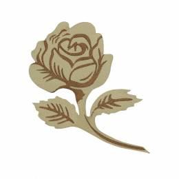 Fleur thermocollante simili cuir 8x5,5cm - 408