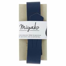 Anse de sac Miyako en cuir marine - 408