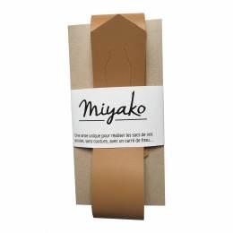 Anse de sac Miyako en cuir sable - 408
