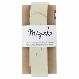 Anse de sac Miyako en cuir craie - 408