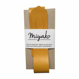 Anse de sac Miyako en cuir curry - 408