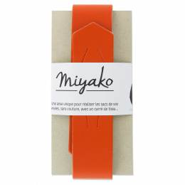 Anse de sac Miyako en cuir orange - 408
