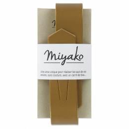 Anse de sac Miyako en cuir bronze - 408