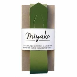 Anse de sac Miyako en cuir olive - 408