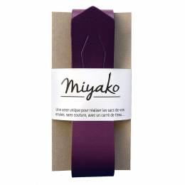 Anse de sac Miyako en cuir prune - 408