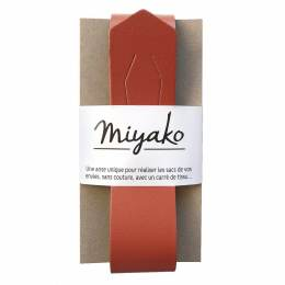 Anse de sac Miyako en cuir terracotta - 408