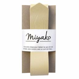 Anse de sac Miyako en cuir or irisé - 408