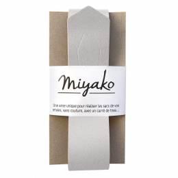 Anse de sac Miyako en cuir argenté irisé - 408