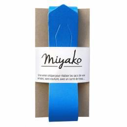 Anse de sac Miyako en cuir bleu mikonos - 408
