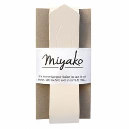 Anse de sac Miyako en cuir blanc cassé - 408