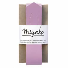 Anse de sac Miyako en cuir lilas - 408