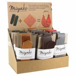 Présentoir de 18 anses de sac Miyako en cuir - 408