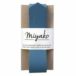 Anse de sac Miyako en cuir jean - 408
