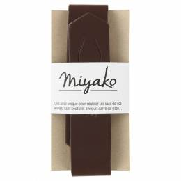 Anse de sac Miyako chataîgne en cuir - 408